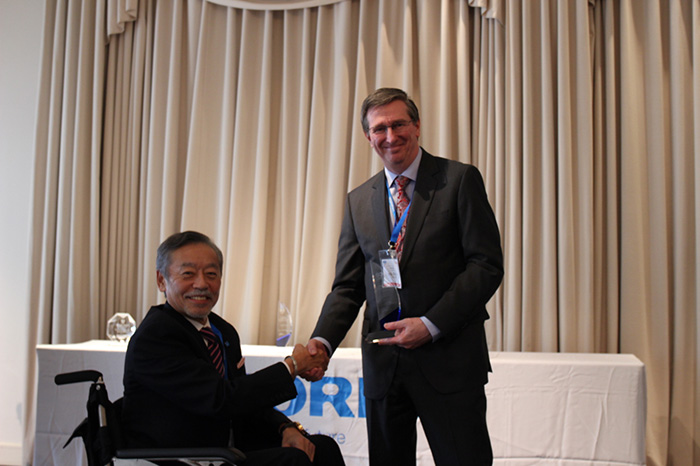 HORIBA, Ltd. Loyalty Award presented to ATS Scientific Inc.
