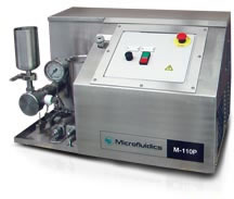High Shear Fluid Processor M-110P Plug and Play